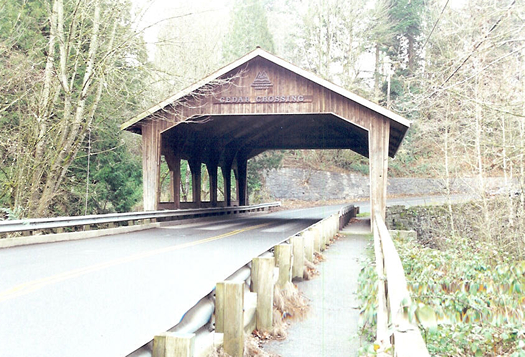 Cedar Crossing Bridge Lane County Oregon