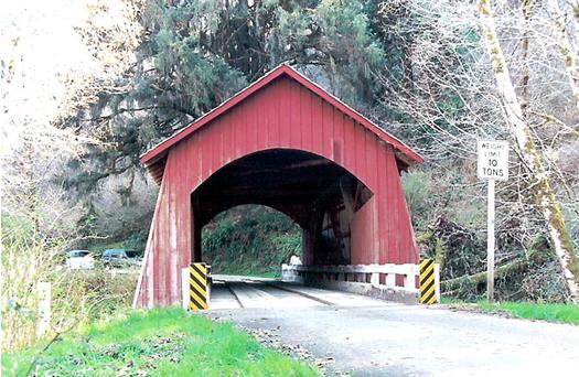 North Fork Yachats Bridge Lane County Oregon